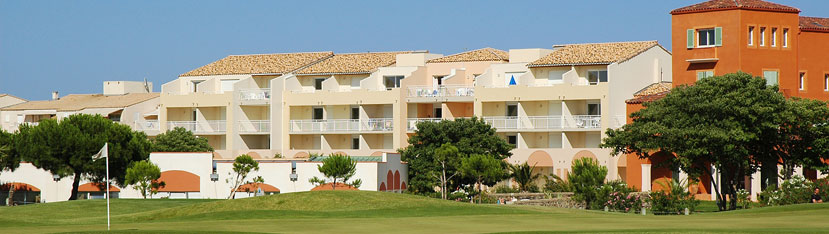 Holiday rental next to the sea : Palmyra Golf residence at Cap d'Agde in Languedoc-Roussillon